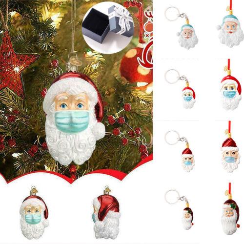 Christmas Tree Epidemic Survivor Face Mask Pendant Santa Claus Hanging Pendant Holiday & Seasonal Décor