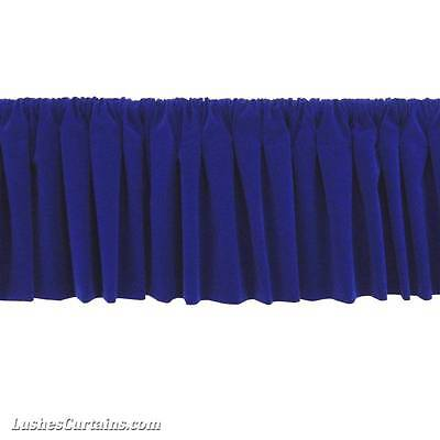 - Window Treatment Royal Blue Rod Pocket Curtain Topper Velvet Valance Panel Drape