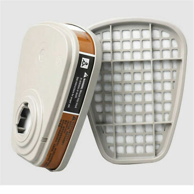 2pc 6001cn Organic Vapor Respirator Filter Cartridge For 3m 7502 6200 Gas Mask