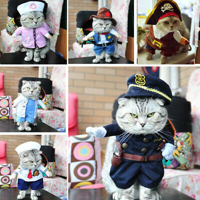 Costume For Cat (Christmas Cat Clothes Halloween Clothes For Cats Costume New Year Outfit)