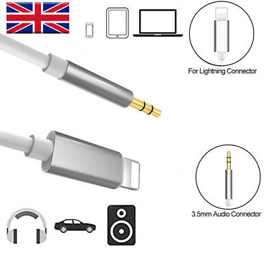Lightning to Male Jack Car AUX Audio Adapter Cable For iPhone 7 8 X XS UK