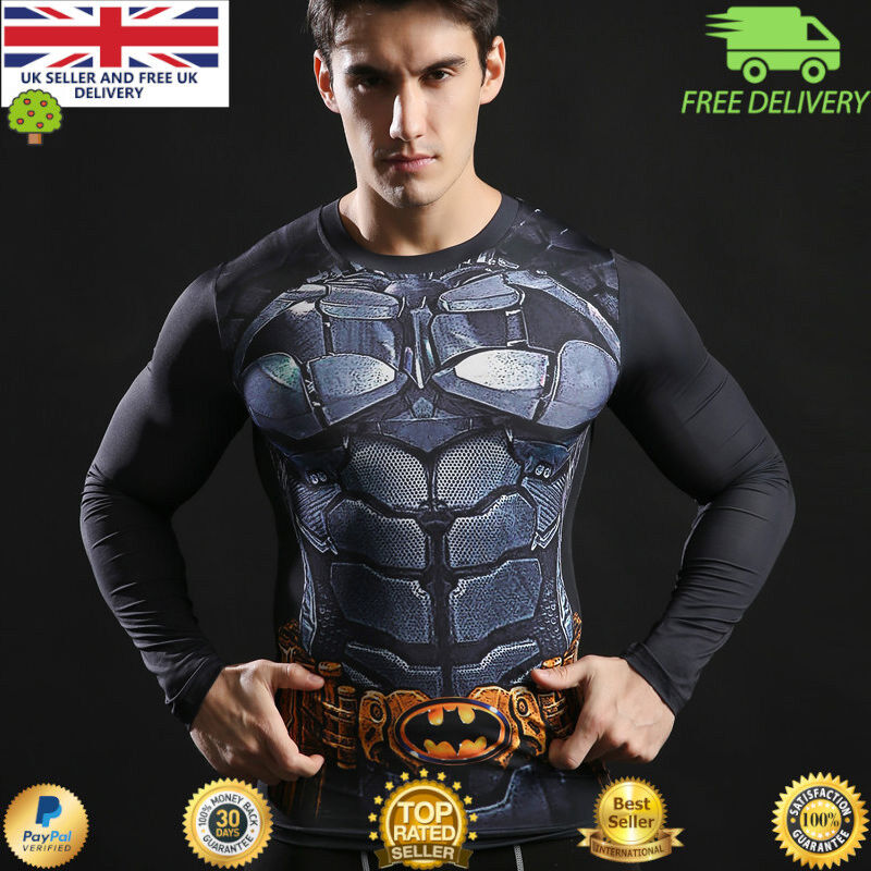 bdc02234a1d2 Introduction price only, limited to 5 days! Grab a bargain. Stunning Batman  Avengers compression top with long sleeves