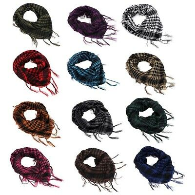 (Mens Womens Military Arab Tactical Desert Army Shemagh KeffIyeh Scarf Neck Wrap)