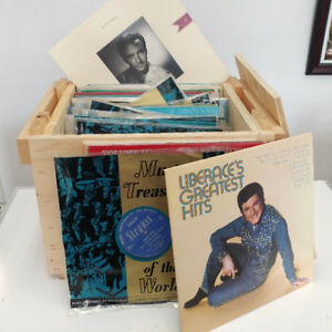Box of 79 Classical Vinyl Record LPs Assorted-Online Auction