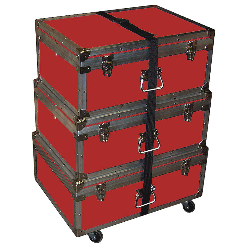 "Triple Accessory Case Rolling Stack! 1/4"" Medium Duty - Many Colors! - RED"