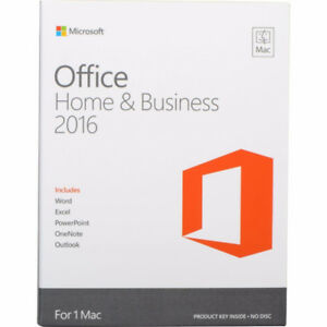 2016 MICROSOFT OFFICE FOR MAC HOME AND BUSINESS