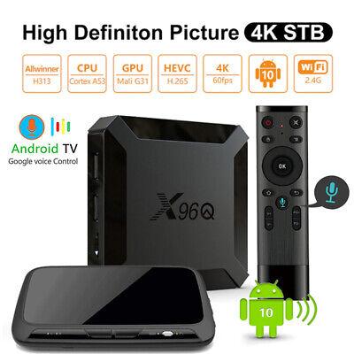 Voice Control X96Q Android 10.0 Quad Core 16GB/2GB DDR3 WiFi Smart TV Box