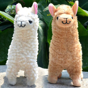 2 pcs Cute Alpaca Plush Toy Cream Llama Stuffed Animal Kids Doll 23CM Height