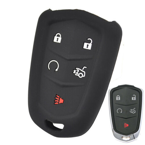XUKEY Silicone Remote Key Case For Cadillac CT6 ATS CTS XTS SRX XT5 Fob Cover