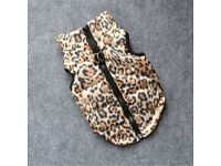 Dog coats x 2 leopard print