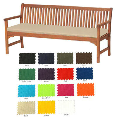 4 Seater Outdoor Water Resistant Bench/Swing Seat Cushion Only Garden Furniture