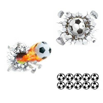 3D Soccer Ball Football Wall Sticker Decal Kids Bedroom Home Room Decor Sport - Soccer Ball Wall Stickers