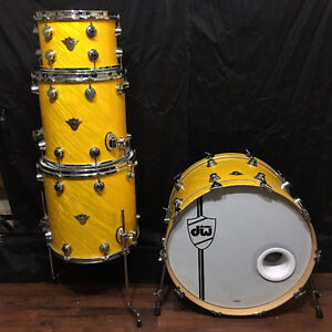 DW drums Classic Series twisted yellow. 24,12,14,16