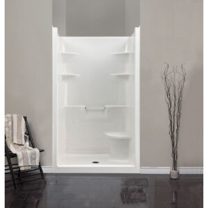 Mirolin MEL4LS/RS Melrose 4 Shower Stall With Seat White