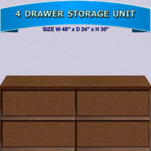 LARGE FOUR DRAWER STORAGE UNIT - HEAVY DUTY CONSTRUCTION