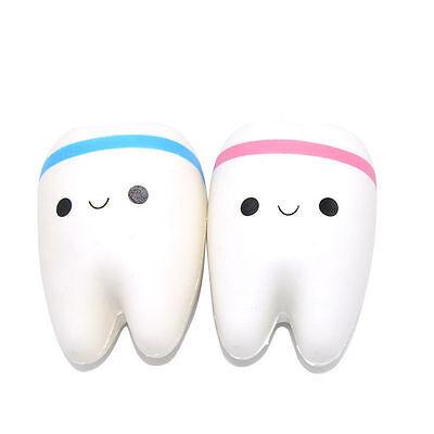 11cm Cute Teeth Soft Squishy Phone Charms Super Slow Rising Ballchain Kid Toy