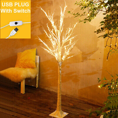 60 LED Birch Tree Lighted Outdoor Warm White Festival Christmas Party Decor Christmas Tree Outdoor Light