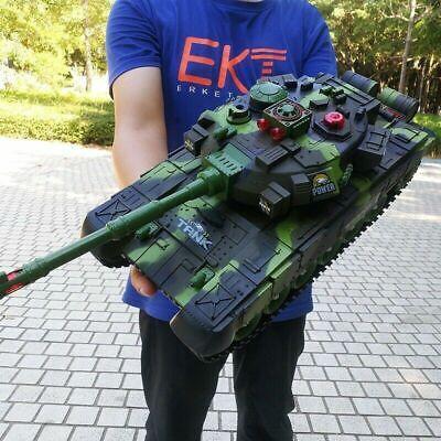 2.4G RC Battle Tank Crawler Remote Control Toys Car Light Ef