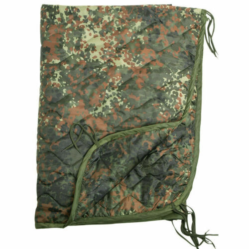 German Military style Poncho Liner Wet Cold Weather Flecktarn Camouflage Blanket