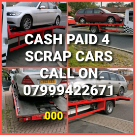 WANTED SCRAP CARS VANS CASH PAID