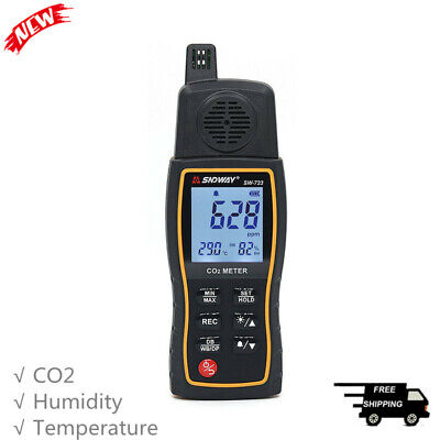 3-in-1 Co2 Meter Monitor Carbon Dioxide Temperature Humidity Tester Detector