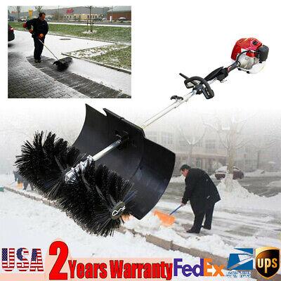 Walk-behind Snow Sweeper Power Brush Broom Mower 2.3hp 52cc Gas-powered Engine