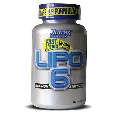 Nutrex Lipo-6 Fast Acting Weight Loss Formula 120 Liquid Vegy