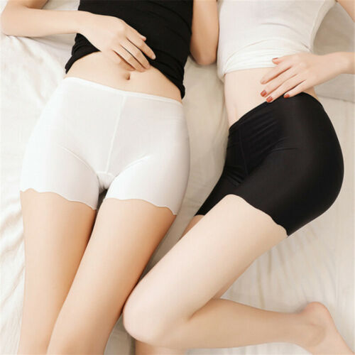 Women Ice Silk Safety Shorts Invisible Seamless Solid new Boxer Briefs Unde T0D0