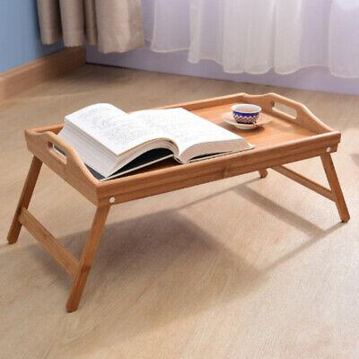 Bambus Serviertablett Betttablett Frühstückstablett Laptop Schreibtisch Klappbar gebraucht kaufen  Bremen
