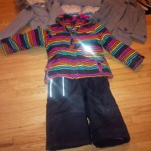 Size 5 girls fall to winter jackets and snow pants Cambridge Kitchener Area image 2
