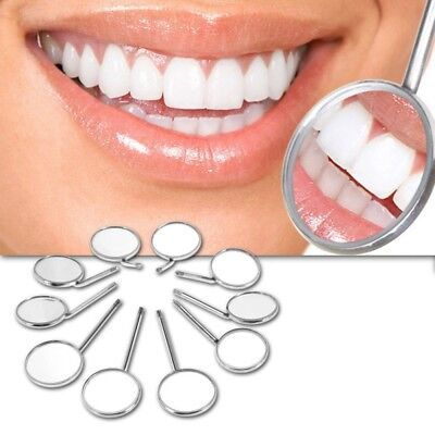New Band 10 Pcs Dental Mouth Mirror Reflector Odontoscope Dentist Equipment