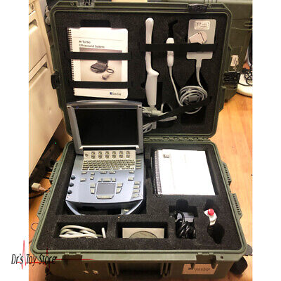 2012 Sonosite M-turbo Portable Ultrasound Machine With Carrying Case 2 Probes