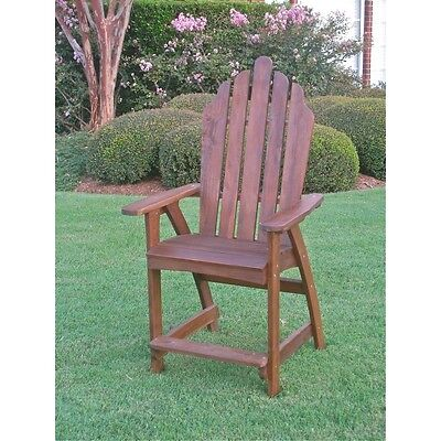 Adirondack Wood Bar Chair - International Caravan Wood Adirondack Bar Chair, Brown