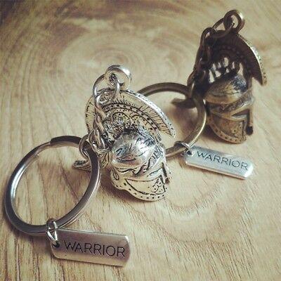 Vintage Roman Warrior Helmet Keychain,Spartacus,Gladiators,Armour Jewelry,Gift