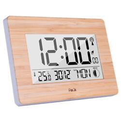 Digital Wall Clock Lcd Big Large Number Time Temperature Calendar Alarm V2G2