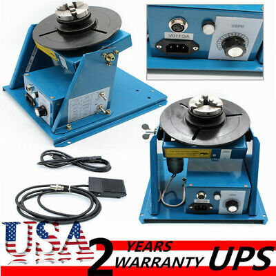 Rotary Welding Positioner Turntable Table 2.5 3jaw Lathe Chuck 2-10rpm 80a 110v