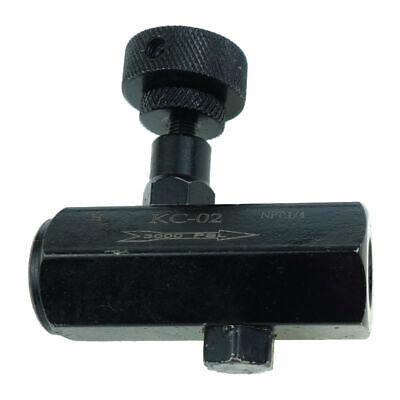 Hydraulic Throttle Valve Check Valve Flow Control Valve 14 Npt 3000psi Steel