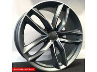 "18"" RS6-C Alloy wheels &Tyres LEON, A3 MK2 MK3 VW Passat, Jetta, Golf MK5, MK6, MK7, Caddy"