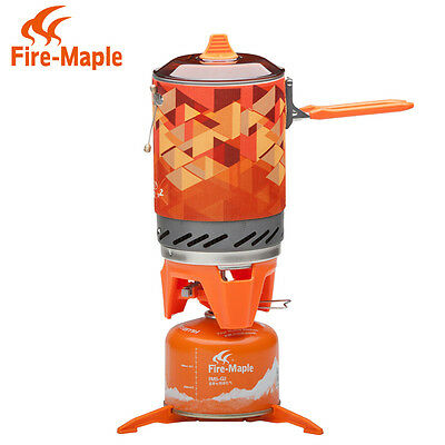 (Fire Maple FMS-X2 Cooking System Portable Best Propane Gas Stove Burner 1L 600g)
