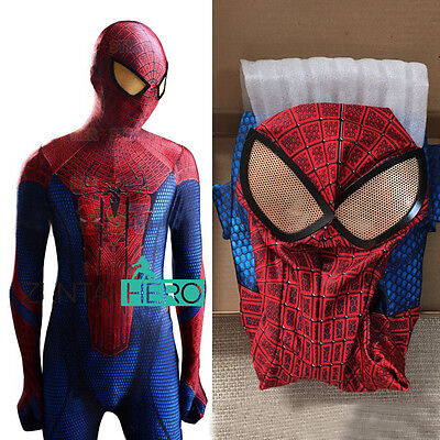 2017 New Amazing Spider-man Cosplay Costume Jumpsuit Tight for Halloween Cosplay](Halloween Costumes For Adults 2017)