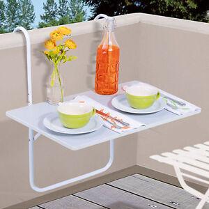 mesa para balc n colgante blanco de patio plegable jard n