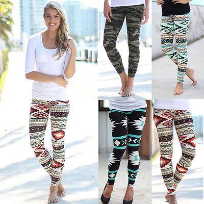 Leggings - Women Stretchy Print Leggings Casual Skinny Leggings Slim Pencil Pants Trousers