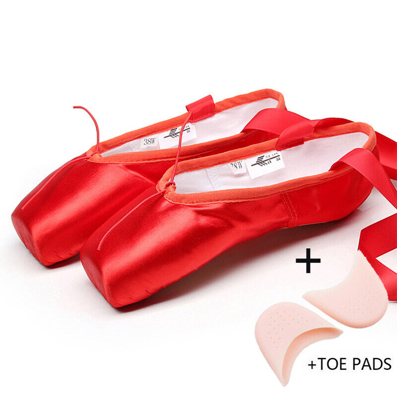Satin Red With Toe Pads