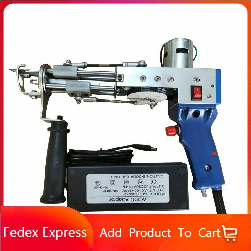 Electric carpet tufting gun cut pile weaving flocking machines 110-220V TD-01