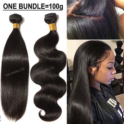 Unprocessed 100% Human Hair Brazilian Weave weft REMY 300G UK STOCK BEST