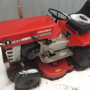mid 70s MF tractor with mower& snow blower