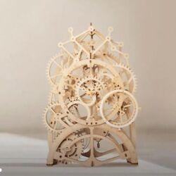 Robotime DIY Wooden Pendulum Clock Model Kits Vintage Table Decoration for Home