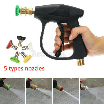 3000psi High Pressure Power Washer Trigger Gun Water Jet Clean 5 Nozzles Tips