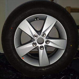 Aluminum wheels with tires (5x114.3)