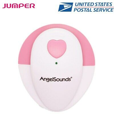 Portable Fetal Doppler Angelsounds Baby Heart Rate Monitor Detector Home Use Usa